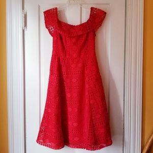 ASOS Off the Shoulder Lace Dress Pockets NWOT